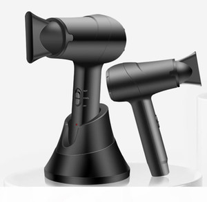 NEW Cordless Portable Electric Hair Dryer Black 300W Rechargeable Blow Dryer 5000MAH With Hot And Cold Wind For Home Travel