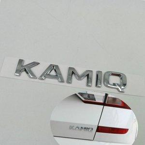 Untuk skoda kamiq belakang tailgate emblema logotipo huruf papan nama mobil stiker dan stiker