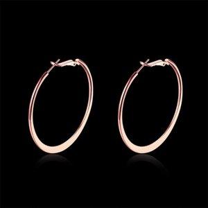 Casual et rétro or et rose or blanc boucles d'oreilles de cerceau pour femmes Engagement du parti Meilleure vente Bijoux Brincos