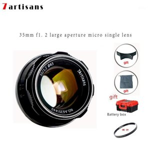 7artisans 35mm F1.2 Prime Olens для Sony E-Mount для Fuji FX M4 / 3 APS-C Camera Manage Management Fire Fire Focus Lens A6500 A6300 XA31