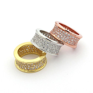 316L titanium steel starry luxury crystal ring rose gold men and women love ring rose gold plated   gold   silver engagement   wedding ring