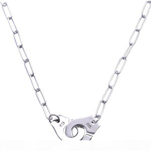 Wholesale Price France Famous Brand Jewelry Dinh Van Necklace For Women Fashion Jewelry 925 Sterling Silver Handcuff Necklace Link Choker