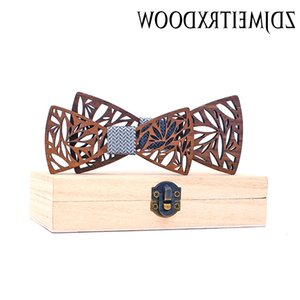 Vintage Floral Printed Parent-Child Bowtie Sets Wooden Kids Pet Men Butterfly Party Dinner Wedding Bow Tie Gift Accessory