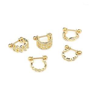 1Pc U Type Earring Barbell With Crystal Hoop Earring Ear Piercing Jewelry1