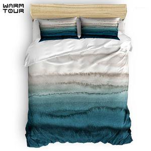 WARMTOUR Duvet Cover WITHIN THE TIDES - CRASHING WAVES TEAL Duvet Cover Set 4 Piece Bedding Set For Beds1