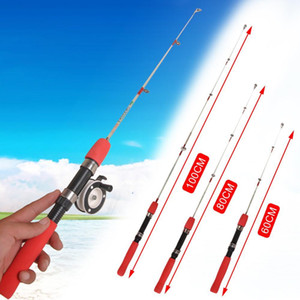 Outdoor Winter Ice Fishing Rods Fishing Reels To Choose Rod Combo Pen Pole Lures Tackle Spinning Casting Hard Rod New