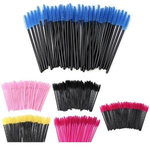 50pcs   Pack Mini Disposable Eyelash Brushes Mascara Wands Applicator Wand Brushes Eyelash Spoolers Comb Brushes Makeup jllVDr