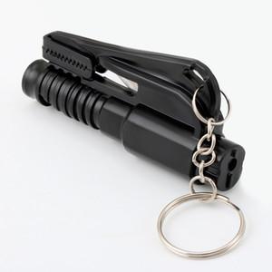 3 in 1 Emergency Mini Safety Hammer car keychain for ford focus 2 3 Hyundai solaris i35 i25 Mazda Car Accessories
