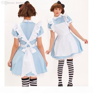 Wholesale-Halloween Maid Costumes Womens Adult Alice in Wonderland Costume Suit Maids Lolita Fancy Dress Cosplay Costume for Women Girl