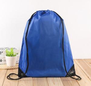 Outdoor Waterproof Bag Nylon Drawstring Bag String Backpack For Women Men Travel Storage Package Teenagers Ba jllffv eatout