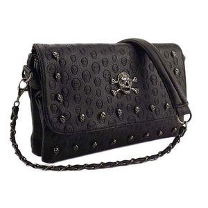 Crossbody Envelope Rivet Messenger Bags Women's Studded Small C1223 Shoulder Bag Mini Skull Square Clutch Xhafu