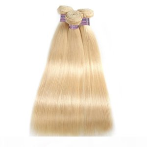 Cheap 10A Unprocessed Blonde Bundles #613 Straight Hair 3Pcs Brazilian Peruvian Malaysian Indian Blonde Bundles 16-30inch