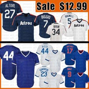 27 Jose Altuve 44 Anthony Rizzo Baseball Jersey 17 Kris Bryant 23 Ryne Sandberg 34 Nolan Ryan 5 Jeff Bagwell 7 Craig Biggio Jerseys