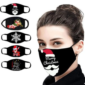mascarillas diseñador de moda navidad negro de algodón reutilizables y lavables máscaras a prueba de polvo respirable para adultos