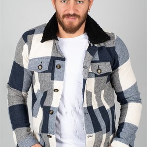 Men 'S Short Sports Coat Tight-Fitting Mould Jacket Knitted Fabric Front Zipper Pockets Quilted Fabric Autumn Winter 201021