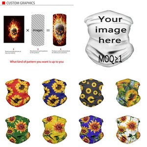 Sunflower Faceshield Multifunctional Magic Turban Scarf Dustproof Support Custom logo Custom Face Masks Sunscreen and Breathable XD24044