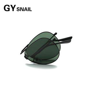 Солнцезащитные очки Gysnail Pilot Складные Мужчины Поляризованные Женщины Мода Дизайнер Бренд Урожай Складные Солнцезащитные Очки для Oculos 2021