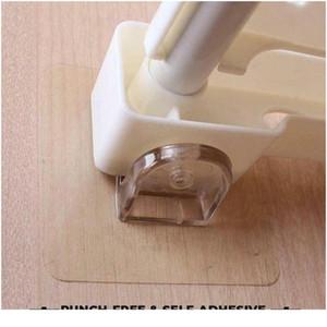 Titular de la partición del vestuario Transparente Auto adhesivo Gancho Divisor Soporte de almacenamiento Aislamiento en capas Armario Partitio SQCRDU