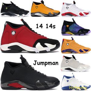 Siyah çok renkli Eğitmenler Doernbecher Yeni 14 14s Jumpman Basketbol Ayakkabı kırmızı grafit 2005 son atış şeker kamışı Sneakers ABD 7-13 meydan