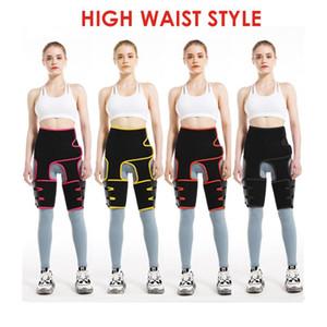 Mulheres cintura Coxa Trimmer Neoprene ajustável instrutor cinto Perna Sweat 3in1 Shapers instrutor Slimming Belt aptidão