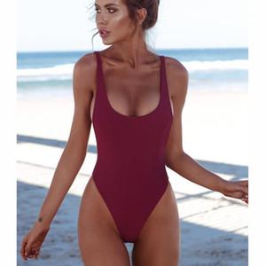Thong Black 2018 Sexy Women One Piece Swimsuit Solid Female Backless Brazilian Swimwear Women Monokini Beachwear Bathing Suit1