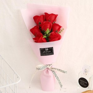 7 small bouquets of rose flower simulation soap flower For Wedding Valentines Day Mothers Day Teachers Day Gift Decorative Flowers PPD4215
