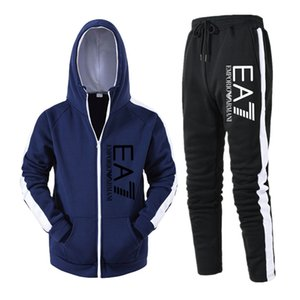 2020 Moda erkek koşu tasarımcı MONCL spor takım elbise erkek hoodie + pantolon gündelik Yüksek Kaliteli ceket 20SS erkekler iki parçalı eşofman