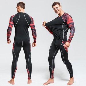 ارتفاع نوعية الرجال الملابس الداخلية الحرارية تعيين رياضة التجفيف السريع الجوارب ركوب الخيل الملابس الجديدة دعوى الدافئة تزلج داخلية الرياضة 4XL