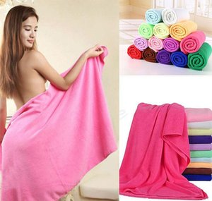 microfiber beach drying bath washcloth towel swimwear travel camping shower cleaning towels 70x140cm dhe2101