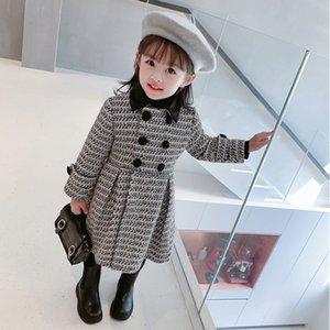 Gooporson Fashion Fall Abrigo para Chica Tejido Tops Largas Espesado Invierno Chaqueta Chaqueta Abrigos Lindos Trajes para niños coreanos 201106