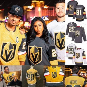 Vegas oro Cavalieri Oro terzo Jersey 7 Alex Pietrangelo Mark Stone Vegas Strong Max Pacioretty Ryan Reaves Marc-Andre Fleury Reilly Smith