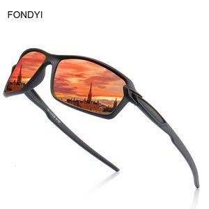 Pesca Fondyi Dropshipping alta qualidade Mens óculos polarizados Mulheres Moda UV400 Anteojos Shades proteção com caso