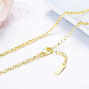 Cadenas de 35-60 cm de latón con color de oro amarillo Cadena de rolo Cadena corta a larga gargantilla collares para mujeres niñas niños niños joyería kolye ketting1