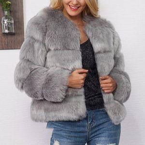2020 caliente del invierno capa de damas nueva piel de piel sólida versión coreana de la chaqueta delgada del temperamento de moda la imitación párrafo corto