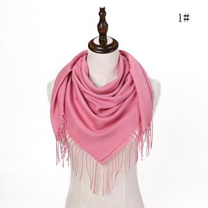Solide Femmes Coton Mélange longue écharpe souple Wrap écharpe Châle Echarpes Femme bufandas Perles perles Hijabs Tassel Scarf