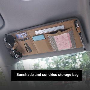 Car Sunblock Bill Pen Business card holder Visor CD DVD Case Organizer Opbergbox Sunglasses Clip Mount Cleaning Car Accessories