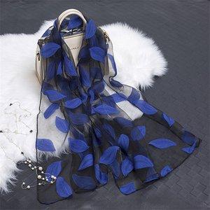 Черная пятница 2019 Горячих продаж Silk женщины Summer Breeze Легкого Sheer Wrap и шаль Бандан Бич органза марля шнурок Hollow шарф
