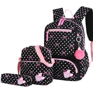 WENYUJH 2019 Yeni Tuval Sırt Çantası 3 Adet / set Kadınlar Okul sırt çantaları Schoolbag İçin Genç Kızlar Çocuk Kitabı Çanta Çantası Q1109