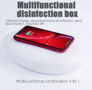 UV disinfection box sterilization with wireless charging voice broadcast function mobile phone sterilizer disinfection box