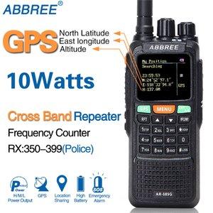 ABBREE AR-889G GPS 10W Walkie Talkie 889G SOS 999CH Cross band repeater Night mode Dual Band VHF UHF Ham CB Radio HF Transceiver