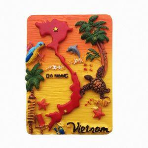 Lychee 3D Isla Vietnam Isla Escenic Iman De Frigorífico Creativo Frigorífico Pegatina Magnética Decoración para el hogar Recuerdos de viaje ETB2 #