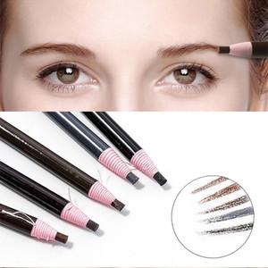 6 Renkler Kaş Kalem Su Geçirmez Mikroblading Kalem Uzun Ömürlü Kaş Arttırıcı Kolay Giyim Göz Kaş Tonu Boya Makyaj Araçları