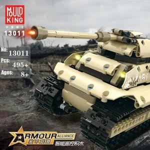 Conjunto militar Block RC Tank Model para Kid Toy Adulto Blocos de Construção Profissional Moc Presentes de Tijolo para Menino