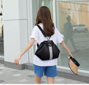 PB0004 Fashion Black Backpack for Lady Girls Leisure Backpack Retro Travel Bags PU Women Handbag 24x26x22cm
