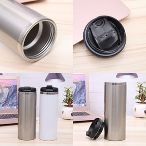 Sublimation Blanks Coffee Cups Stainless Steel Water Tumblers Straight Car Doubledeck Coating White Home Mens Womens High Quality 11jq M2
