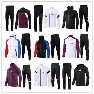 paris giacca 2020 2021 psg Francia Mbappe 2020/21 Parigi giacca rosa tuta Abbigliamento invernale completa Zipper giacca