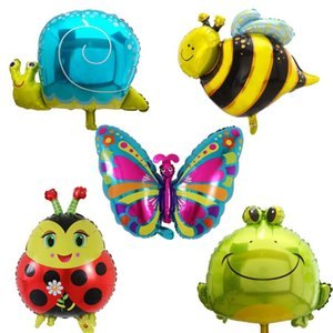 1pc Large Size Butterfly Bee Frog Snails Foil Animal Balloons for Wedding Birthday Party Decoration Air Globos Kids Classic Toys