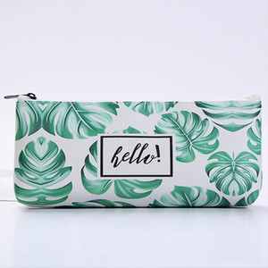 Women Leather Cosmetic Bags Makeup Pattern New Fashion Necessaries for Organizer Toiletry natural color travel bag purse