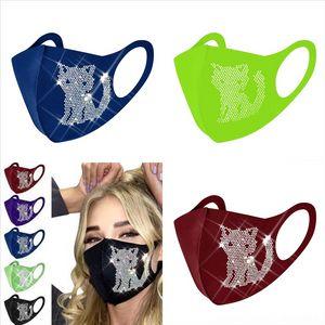 HW4 Yüz Maskesi Katsız Yüz Mavi Trump Dokuma Tek Kullanımlık Yüz Maskesi Yüz Koruyucu Katmanlar Earloop Anti-Toz Maskeleri Maskeleri