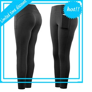 Fitness Fitness High Stail Stect Athletic Gym Gym Leggings Transports Bags Active Folleto para teléfono móvil